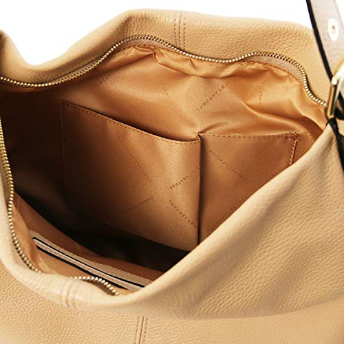 En Tuscany Hobo Tlbag Leather Champagne Cuir Sac Souple vZvTz8qO
