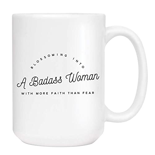Amazoncom Badass Woman Coffee Mug Cute Sarcastic Funny Cup For
