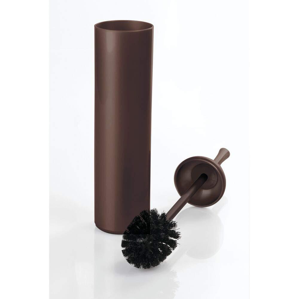 Portascopino con spazzolone incorporato Scopino water sobrio e funzionale mDesign Scopino bagno design in materiale plastico Anche per bagni di piccole dimensioni bianco