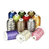 Simthreads 12 Variegated Colors Embroidery