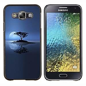 TECHCASE---Cubierta de la caja de protección para la piel dura ** Samsung Galaxy E5 E500 ** --Lonely Island Luna