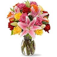Amazon fresh cut flowers benchmark bouquets big blooms with vase fresh cut flowers mightylinksfo