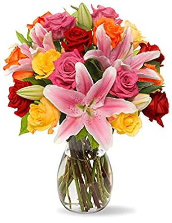Amazon benchmark bouquets big blooms with vase grocery benchmark bouquets big blooms with vase mightylinksfo