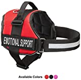 Emotional Support Dog Vest Harness With Reflective Straps, Interchangeable Patches, & Top Mount Handle | ESA Dog Vest in 7 Adjustable Sizes | Heavy Duty Emotional Support Dog Harness for Working Dogs