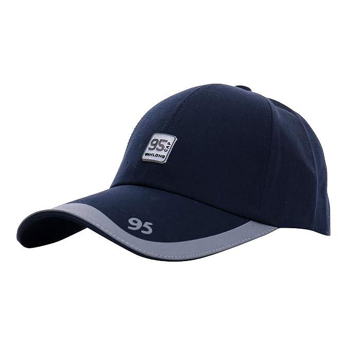 Gorra de béisbol para Hombre Visera Larga, Moda Sombreros Hombre Casquette For Choice Outdoor Golf Sombrero para el Sol Sombrero de Lengua Sombrero de Hip ...
