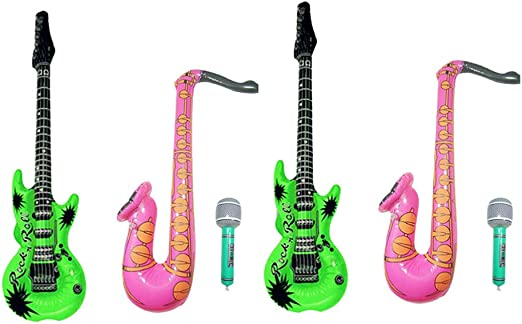 SUPVOX 6 Piezas inflables Rock Star Toy Set Guitarra Inflable ...