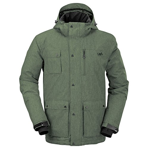Urban Beach Men's Ski Snowboard Jacket, Waterproof, Breathable Outerwear,...
