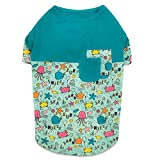 Zack & Zoey Sun and Sea UPF40 Patchwork Tee Shirt for Dogs, X-Small Review