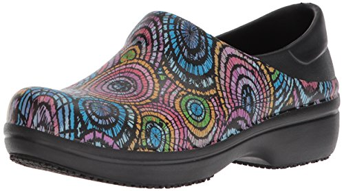 Crocs Women's Neria Pro Graphic W Clog, Black/Multi, 8 M US