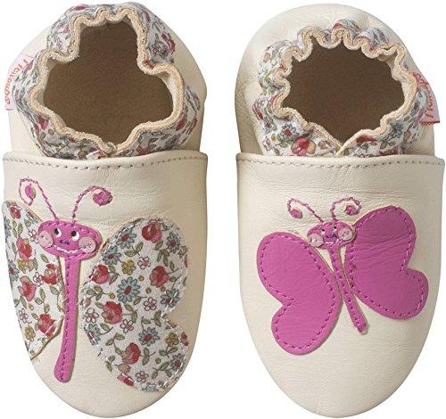 Tichoups chaussons bébé cuir souple zébulon le papillon