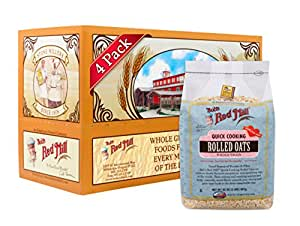 Bob's Red Mill Oats Rolled Quick, 32 Ounce (Pack of 4)
