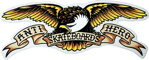 Anti Hero Eagle Large Decal Single Skateboarding Stickers and Decals (Eagle Anti Hero)