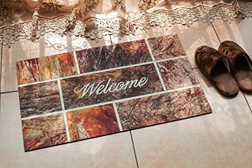 Fashion Mat (Bella Happy House 1004 Printed with Welcome Fashion Rubber Doormat, Entracne home doormat,Outside mat ,Easy cleanable 18 Inch By 30 Inch)