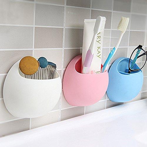 GreenSun(TM) Practical New Cute Eggs Design Toothbrush Sucker Holder Suction Hooks Cup Organizer Toothbrush Rack Bathroom Kitchen Storage Set