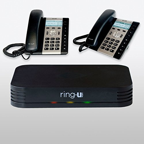 Ip Pbx System - System Bundle: ring-u Hello Hub with 2 Atcom A20W IP phones Small Business Phone System (PBX) and Service (voip). Up to 20 lines and 50 extensions. Keep your number! Only $24.95 per phone line.
