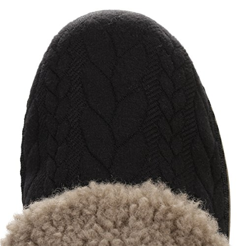 FitflopLoaff Quilted Slippers - talón abierto mujer Negro