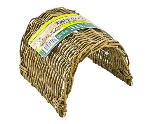 Ware Manufacturing Hand Woven Willow Twig Tunnel Small Pet Hideout, (Natural Tunnel)