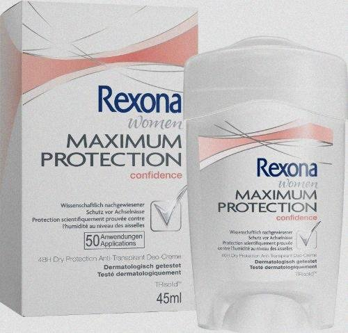 Rexona Women Maximum Protection Confidence Travel Deodorant Cream 45ml by Rexona