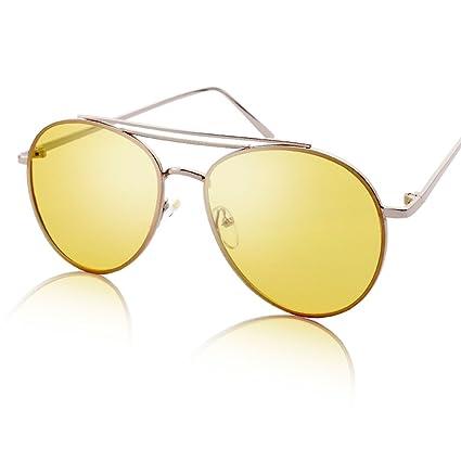 Amazon.com : DEI QI Gafas de sol redondas gafas de sol de ...