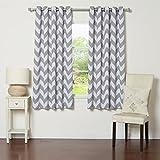 Cheap Best Home Fashion Room Darkening Chevron Print Curtains – Antique Bronze Grommet Top – Grey- 52″ W X 63″ L – (1 Panel)