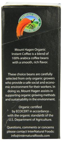 Mount Hagen Organic Instant Regular Coffee, 25-Count Single Serve packets (Pack of 4) by Mount Hagen (Image #1)