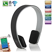 Wireless Bluetooth Headphone,elecfan New Wireless Bluetooth Headset Stereo Earphone Mic for Tablet PC and all iPhones and all ipads ipod Samsung Phones (Black)