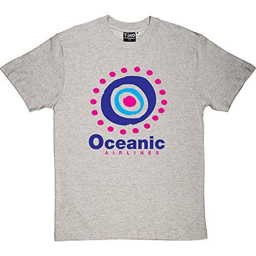Oceanic Airlines - Oceanic Airlines Melange Grey/Ash Men's T-Shirt Large