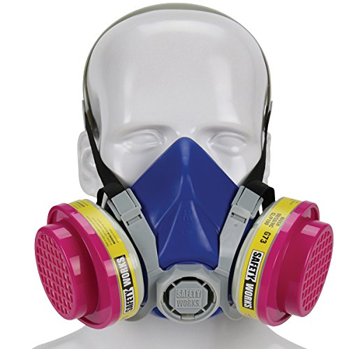 Safety Works SWX00320 Multi-Purpose Respirator Half-Mask Niosh Ov/AG/P100 by Safety Works
