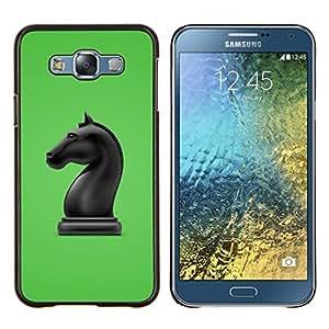 """Be-Star Único Patrón Plástico Duro Fundas Cover Cubre Hard Case Cover Para Samsung Galaxy E7 / SM-E700 ( La figura del caballo de ajedrez"""" )"""
