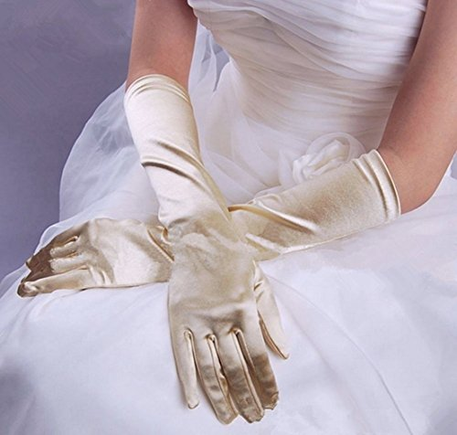1-Sets (1 Pair) Prime Popular New Lady Long Satin Gloves Evening Party Girl Prom Bridal Gift Color ()
