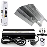 iPower 1000 Watt HPS Digital Dimmable Grow Light System Kits Wing Reflector Set with Timer