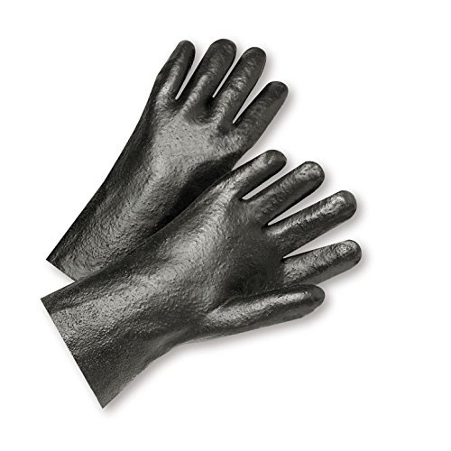 Semi Rough (West Chester 1017R Semi-Rough Grip PVC Interlock Gloves 10