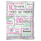 Have Faith Boutique Personalized Baby Blanket with Name- 30''x40''- Velveteen Fleece
