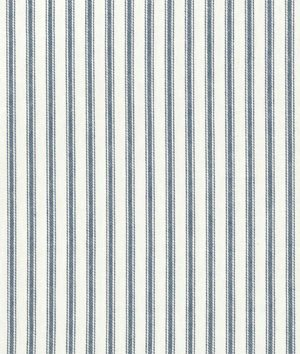 (Covington Denim Blue Woven Ticking Fabric - by the Yard)
