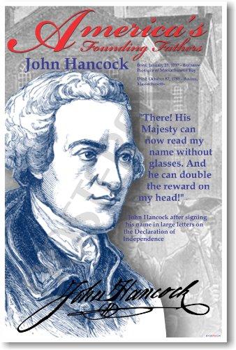 America's Founding Fathers: John Hancock - Classroom Poster