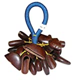Overseas Connection Ghana Nylon Togo Seed Rattle Natural 10 x 4 in.