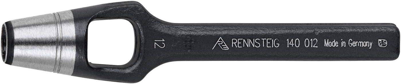 1//16 pulgadas Sacabocados color negro RENNSTEIG 140 002 0 hierro perforado, indicador de agua di/ámetro de 2 mm