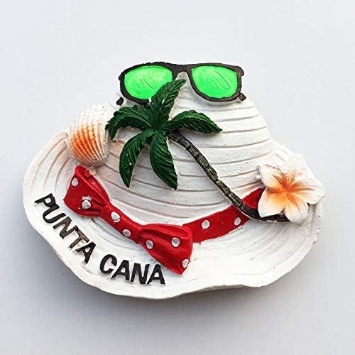 Idea Regalo MUYU Magnet Dominican Punta Cana Decorazione per casa e Cucina Collezione di Calamite da Frigorifero Dominican Punta Cana Calamita per Frigorifero 3D