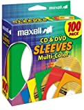 blank target paper - Maxell 190132 CD & DVD Paper Storage Envelope Sleeves with Heavy-duty Paper and Clear Plastic Window Multi-Color 100 Pack (Paper)