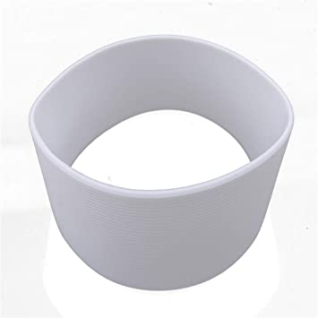 uxcell/® Silicone Nonslip Glass Bottle Mug Cup Sleeve Protector Cover White