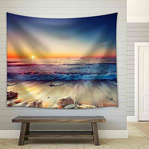 Beautiful Sunrise Over The Horizon Fabric Wall