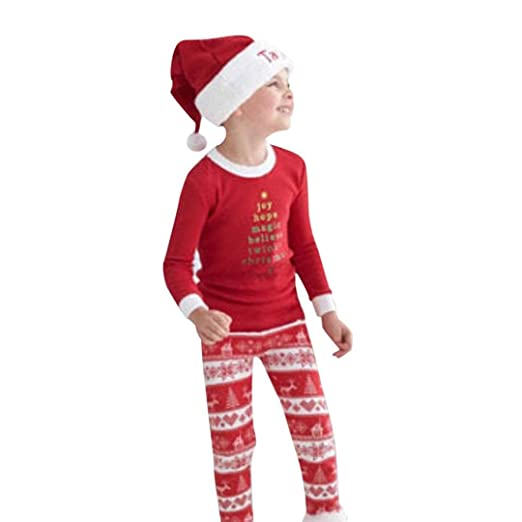 Hometom Family Christmas Pajamas, Family Christmas Xmas Pajamas Set (Boy, 2T)