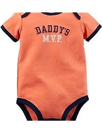 Boy's S/S Orange Daddy's MVP Bodysuit (Newborn)
