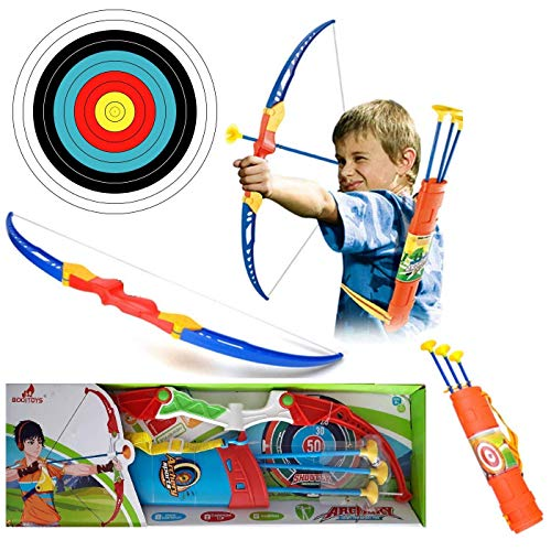 ZIYA Archery Bow and Arrow Target Game Indoor/Outdoor Toy for Kids, Boys, Girls, Children.