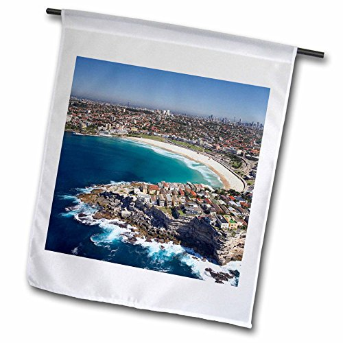 3dRose fl_75410_1 AU01 DWA3509 Australia, New South Wales, Sydney, Bondi Beach Aerial David Wall Garden Flag, 12 by - Bondi Nsw