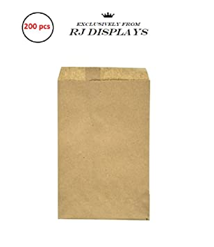 Amazon.com: 200 Kraft café bolsas de papel, 5 x 7.5 ...
