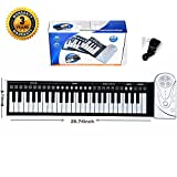 Portable Roll up Music Piano keyboard. Digital Electronic Keyboards w/49 full weighted key Flexible Foldable Key built-in speaker headphone