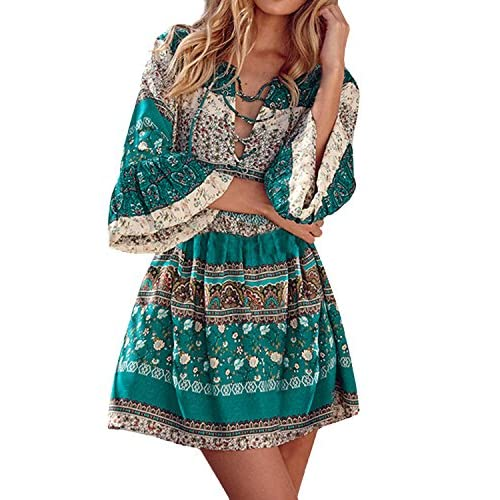 4347c65af1f5 StyleDome Vestido Mujer Playa Pareo Camisola Floral Étinica Tribal ...