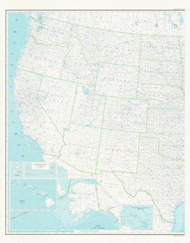 United States Map 2B Base Map (West Half, Paper/Non-Laminated) (TUS5571)...
