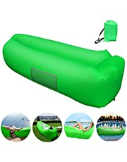 Inflatable Couch Hammock with Storage Pocket